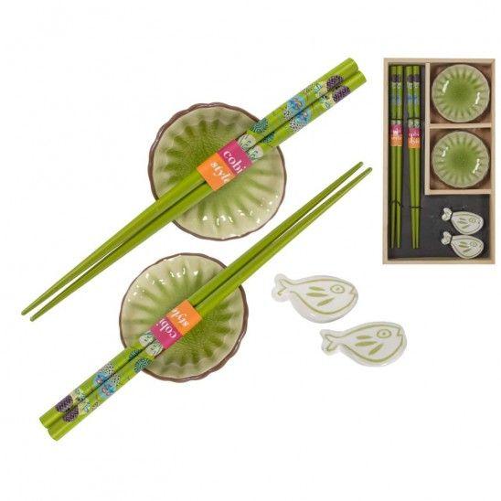 Set of 2 bowls and chopsticks