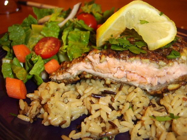 Walnut Crusted Trout Fillets