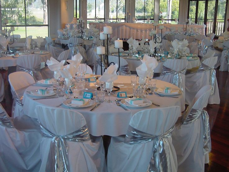 Silver And White Wedding Decorations | DELUXE WEDDING PACKAGE ALTERNATE  DROP MENU