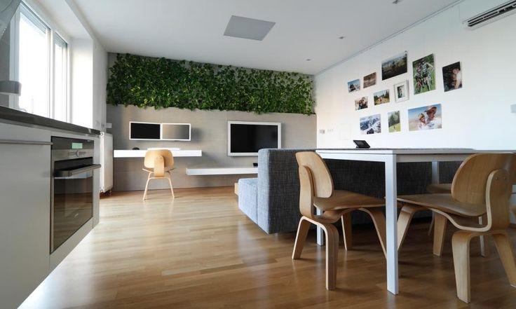 Wohnzimmer Gestaltung kleinen slowakischen Wohnung verbessert mit LED Beleuchtung von vorgestellt Rudolf Lesňák