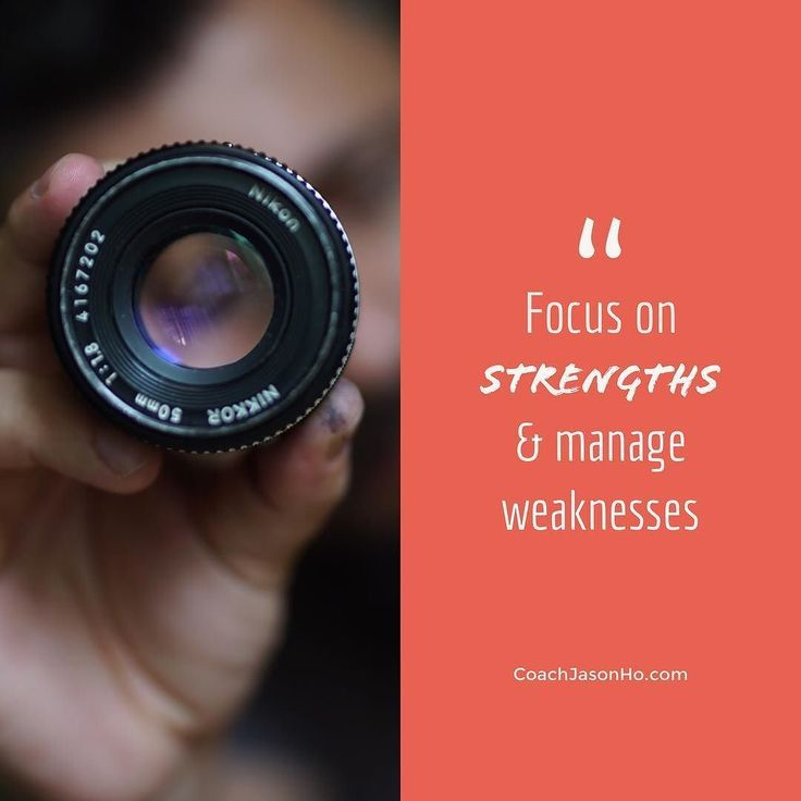"[#CliftonStrengths] #StrengthsFinder #Leadership #Workshop #Program - #Quotes - 'focus on strengths and manage weaknesses'   A question I get asked quite often as I do StrengthsFinder Leadership Programs is ""So Jason... does that mean I should ignore my weaknesses and just focus on strengths?"" Definitely not. The key is not to ignore the tasks that we know we are weak in but rather to try to have more opportunities to do the things at work that make us feel energized."