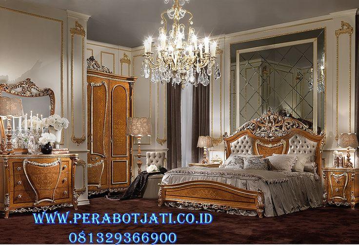 Desain Set Kamar Tidur Eropa Klasik Vineer | Model Tempat Tidur Pengantin Klasik Eropa