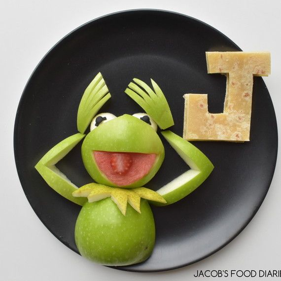 kermit made of food