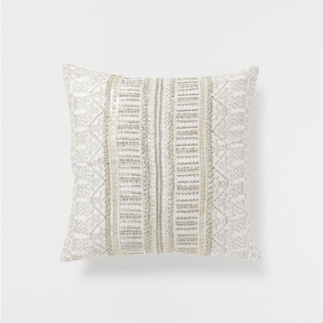 GREY PRINTED CUSHION WITH BEADS - Cushions - Bedroom | Zara Home United Kingdom