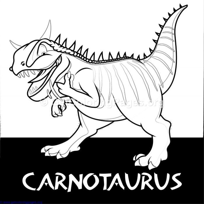 Free To Download Carnotaurus Cute Dinosaurs Coloring Pages