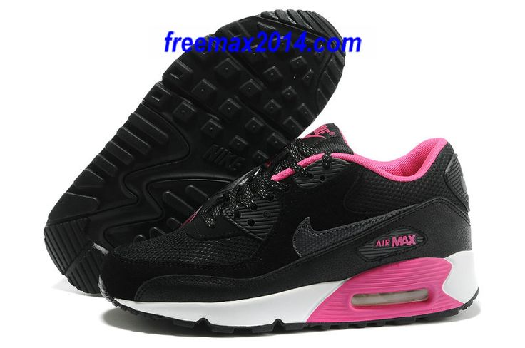 huge selection of e95b8 1bc83 ... cheapest nike air max 90 2007 gs black dark grey pink foil white shoes  0eb13 927dd