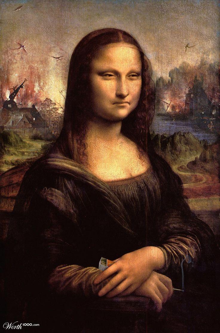 Da Meany Lisa By Ozplasmic Art Mona Lisa Different