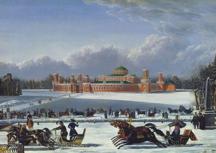Sannye gonki v Petrovskom parke 1830-e-40-e.jpg
