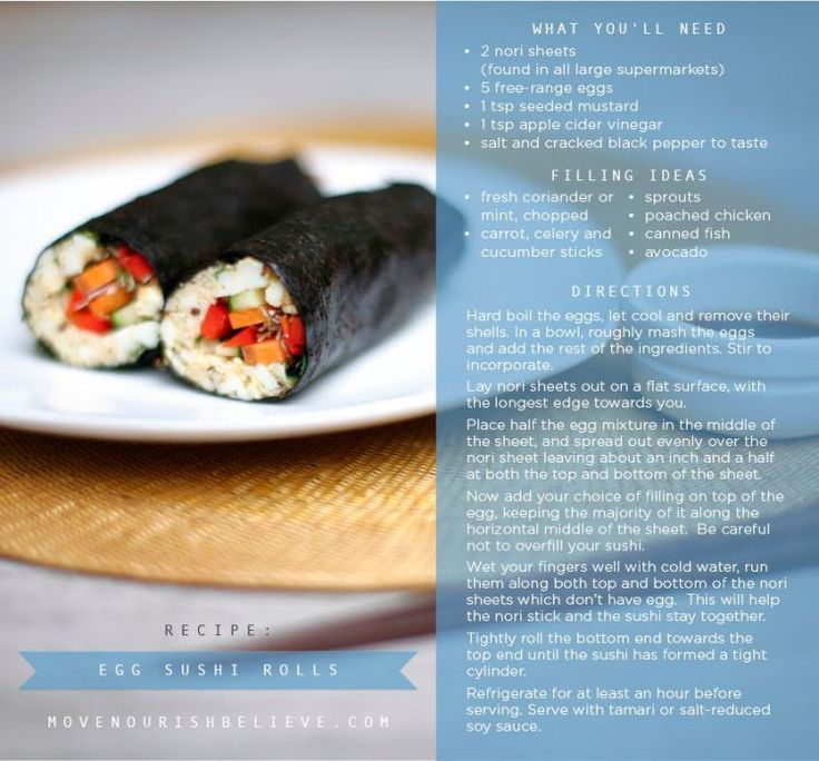 clean eating sushi with hard boiled eggs from Lorna Jane Move Nourish Believe