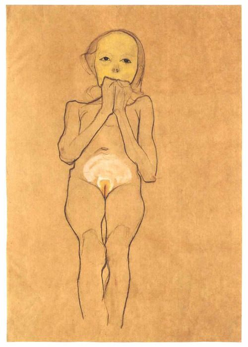 Egon Schiele, Seated Sick Girl.