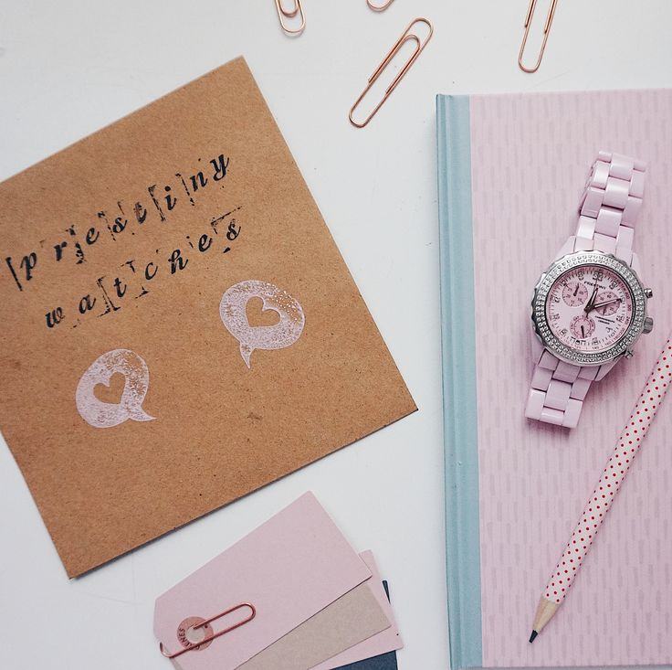 Our pink Prestiny watch among our favorite office supplies 💕 An amazing fashion accessory 🌸