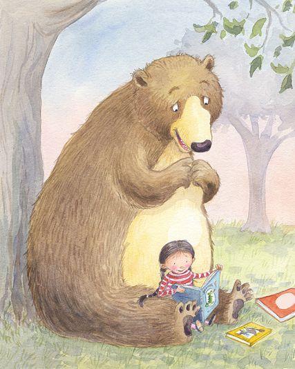 """bibliolectors: """" Se acabó la hibernación… vamos a leer! (ilustración de Liza Woodruff) """""""