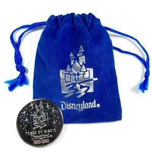 Visit my store! Vintage Disneyland 35 Years of Magic Coin 1955-1990 with pouch
