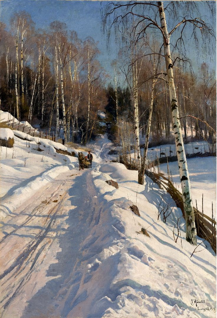 Sleigh ride on a Sunny Winter Day Peder Mork Mønsted - 1919