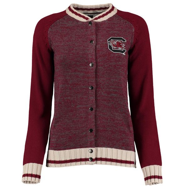 South Carolina Gamecocks Women's Letterman Sweater - Burgundy - $63.99