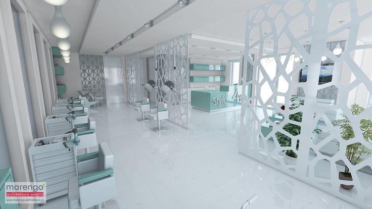projekt salonu fryzjerskiego, więcej na: http://marengo-architektura.pl/portfolio/projekt-salonu-fryzjerskiego/