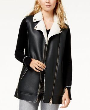 Armani Exchange Faux-Leather Vest - Black XL