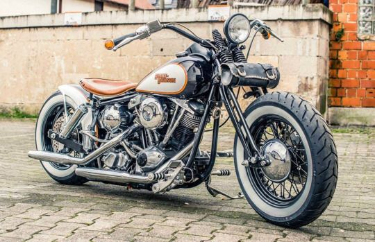 harley with an old school look | motorcycles | pinterest | bobbers