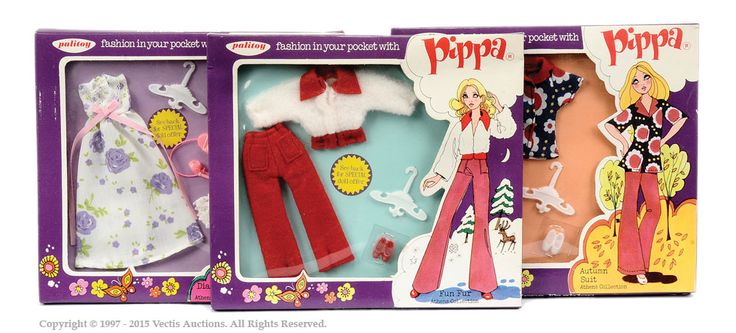 Palitoy Pippa Doll Athens Collection Carded Outfits X 3 | Vectis Toy Auctions