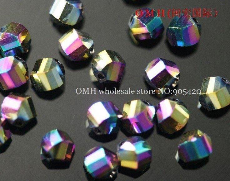 ООБ оптовая 50 шт. спирали цветные стеклянные кристаллические шарики 6 мм sj59