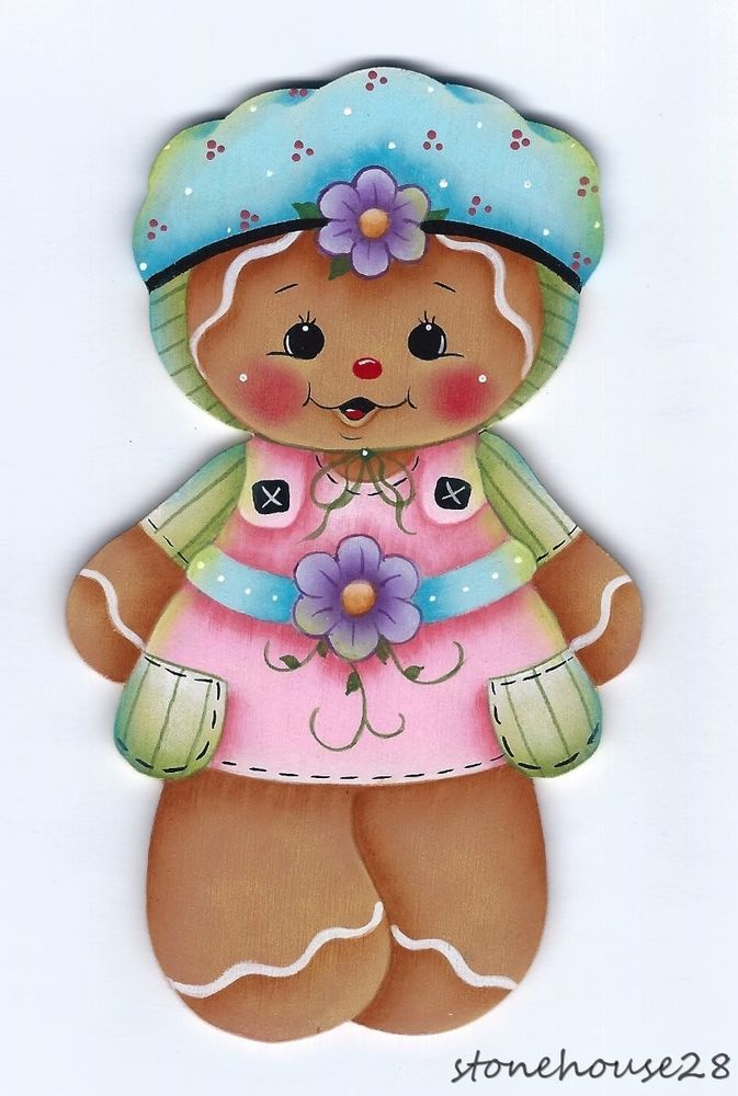 HP GINGERBREAD Summer Dress FRIDGE MAGNET #Handpainted
