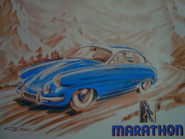 Marathon was a small French automobile manufacturer established prior to 1951 by a group of engineers under the direction of rally enthusiast Bernard Denis. Prototypes for a lightweight sports coupé were presented at various motor shows starting with the 1951 Frankfurt Motor Show. Production models followed between 1953 and 1955.