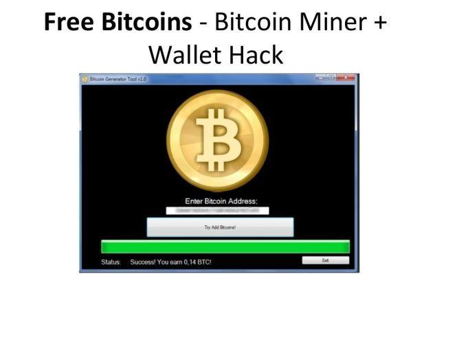 free bitcoins hack