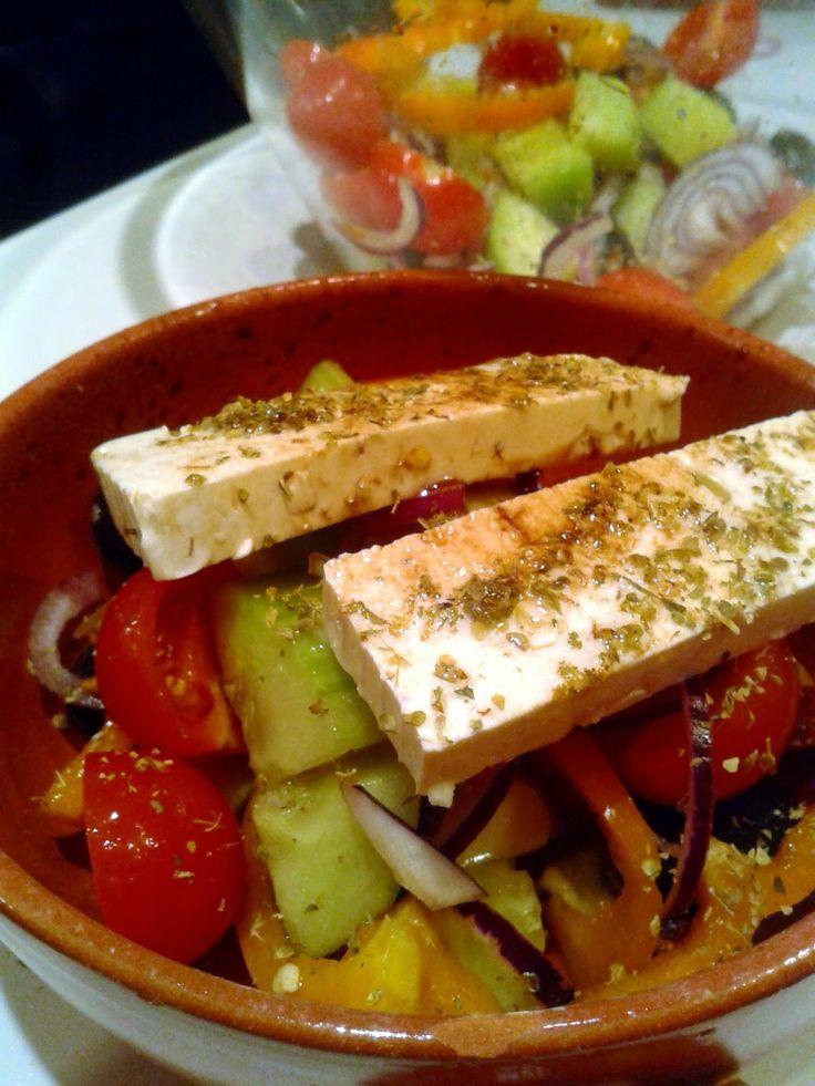Horiatiki, czyli sałatka grecka   Szef kuchni odleciał