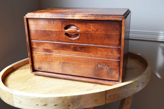 Baribocraft Maple Wooden Bread Box, circa 1960s from ...