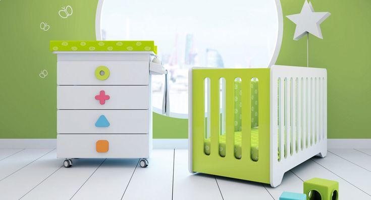 Cómoda bañera cambiador para bebés Maths de colores