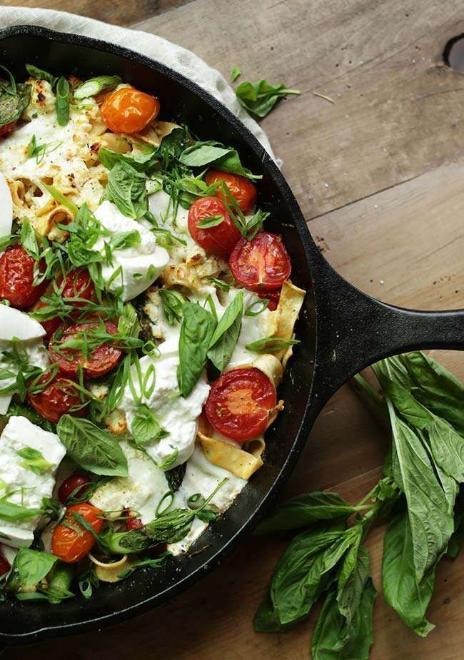 Fire up your skillets and make this tasty full flavored Summer Vegetable Pasta with Pappardelle recipe that is sure to be a hit!