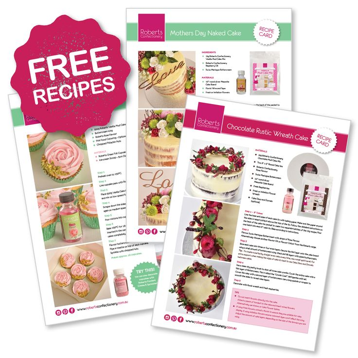 Download your recipes sheets from our website!