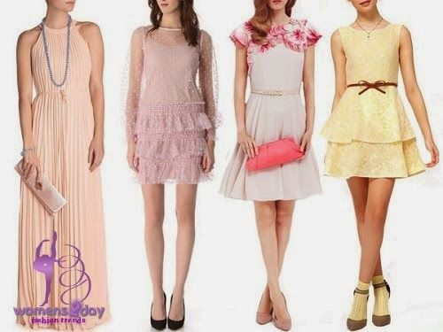 Pastel wedding dresses for guest / summer 2014