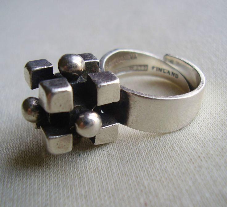 Pentti Sarpaneva, vintage sterling silver ring, 1965. #Finland
