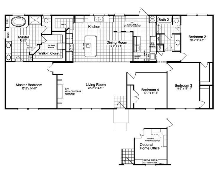 the hamlet ii 4 bedroom modular floor plan cbs modular floor plans
