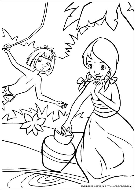 Disney The Jungle Book Coloring Page