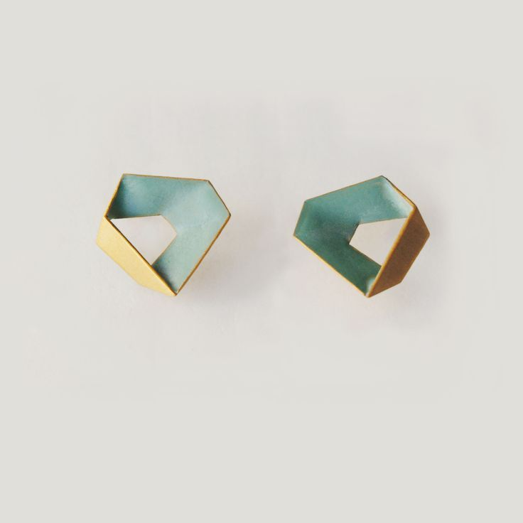 The Penta collection + + + GORGEOUS Turquoise interior gold earrings.