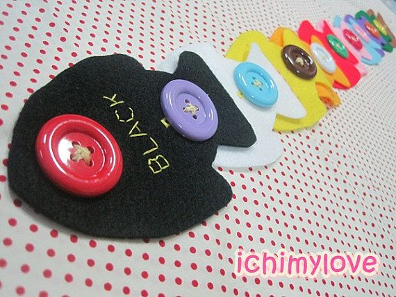 Fine motor skills with felt and buttons