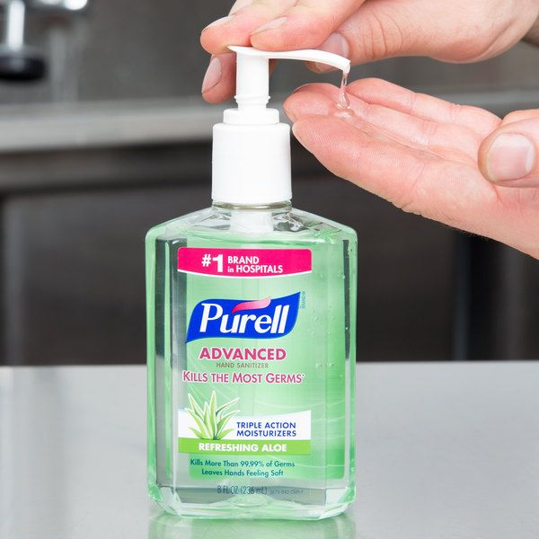 Purell 9674 12 Advanced With Aloe 8 Oz Gel Instant Hand