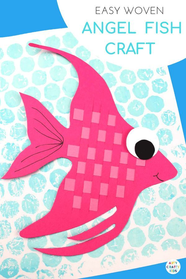 Woven Angel Fish Craft June Speech Therapy Ideas Crafts For Kids