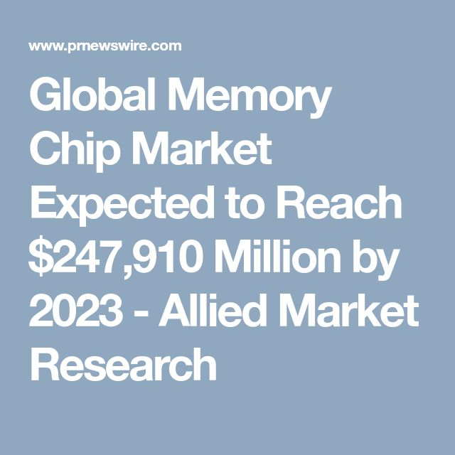 Global Memory Chip Market Expected to Reach $247,910 Million by 2023 - Allied Market Research