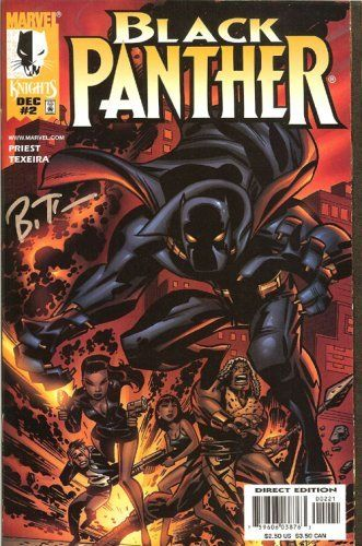 Black Panther #2 Signed Bruce Timm #7751 [Comic] by Mark Priest; Mark Texeira. By Bruce Timm. Last signed issue in stock. Complete and unread VF/NM. This is a 1st print, signed by cover artist Bruce Timm, edition.