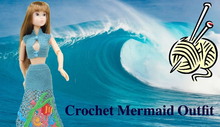 How to Crochet Mermaid Outfit for Momoko doll