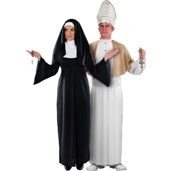 Holy Sister Nun and Pope Couples Costumes  sc 1 st  Pinterest : the pope costume  - Germanpascual.Com