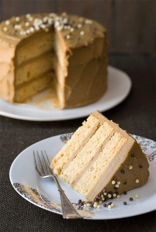 This lightly spiced Sweet Potato Layer Cake with Molasses Buttercream is a gorgeous and unique fall dessert.