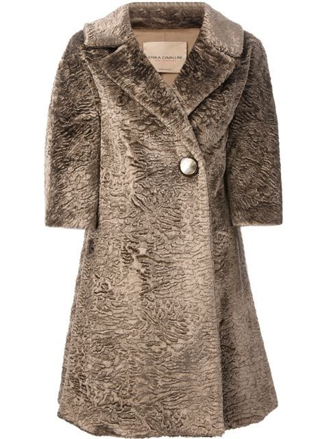 Shop Erika Cavallini Semi Couture 'Madame' coat in Nugnes from the world's best independent boutiques at farfetch.com. Over 1000 designers from 60 boutiques in one website.