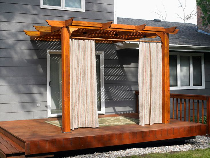 Pergola W Drapes For The Home Pinterest Outdoor