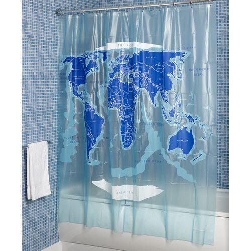 31 best World Map Shower Curtain images on Pinterest | World maps ...