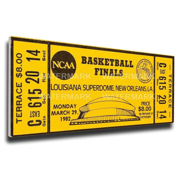 North Carolina Tar Heels Wall Art - 1982 NCAA Basketball Finals Canvas Mega Ticket