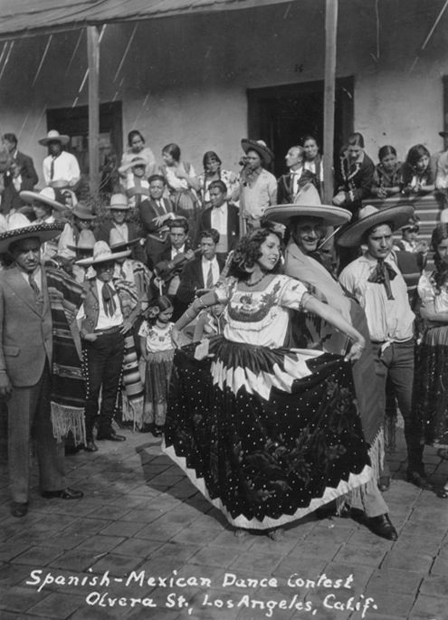 California History - Los Angeles County - Los Angeles - Olvera Street